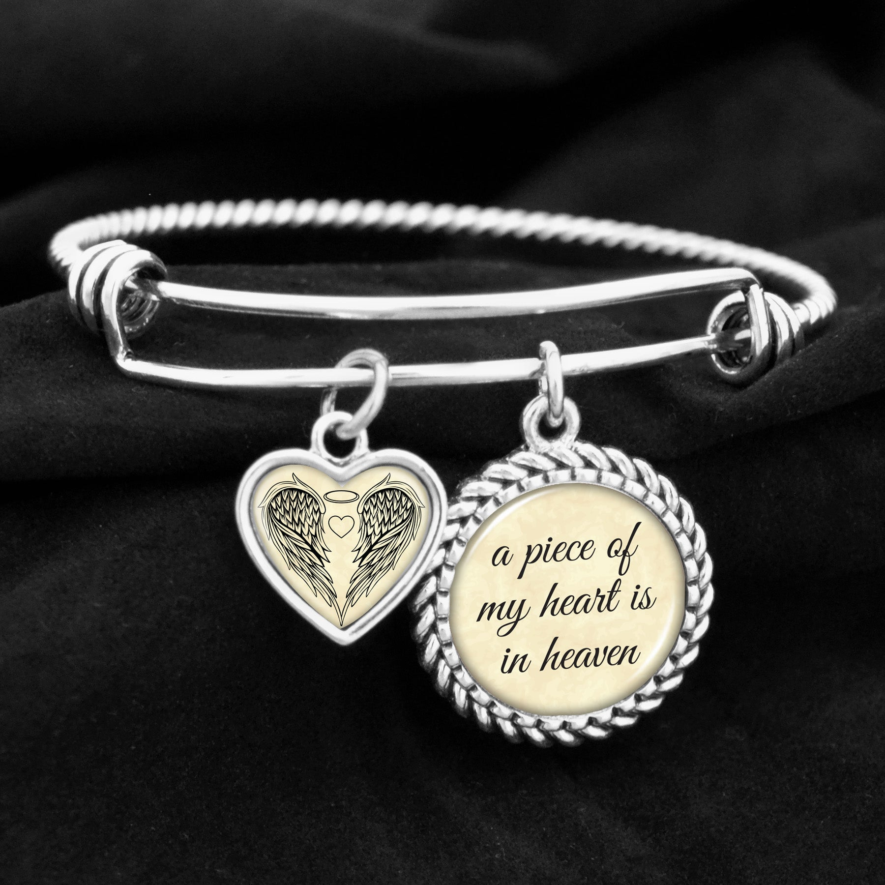 bracelets size heart alternate product charm view os limitless bracelet