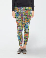 Houses On The Hillside Leggings