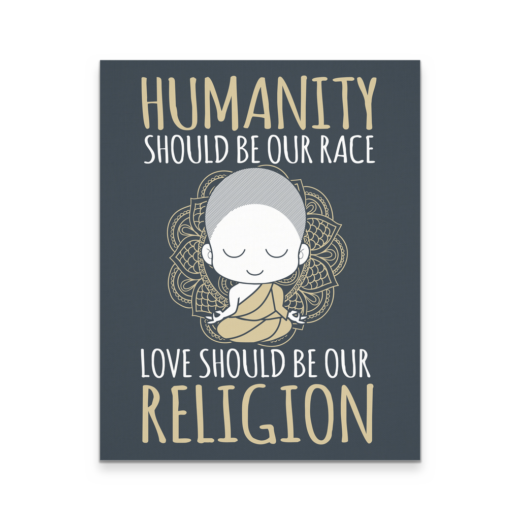 16x20 - Humanity & Love Canvas Wall Art