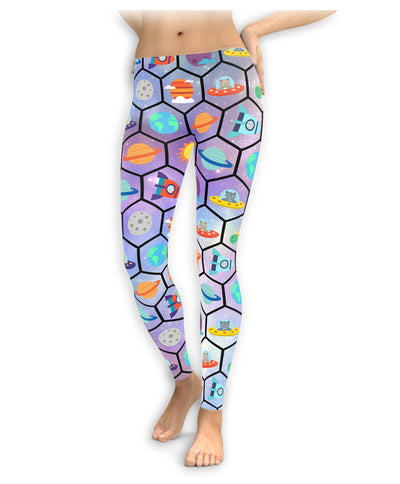 Cotton Candy Space Leggings