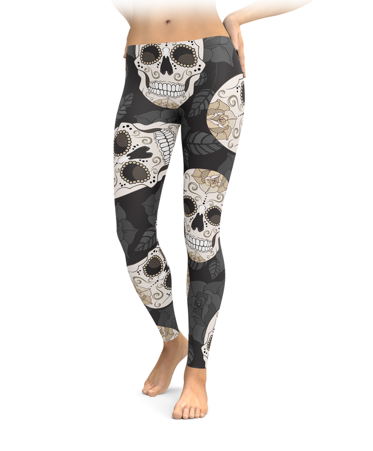 Gothic Sugar Skull Leggings