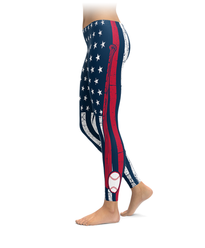 Boston Baseball Thin Line Leggings