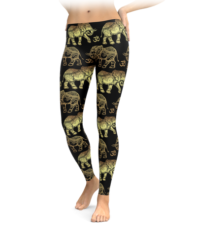 Om Elephant Leggings