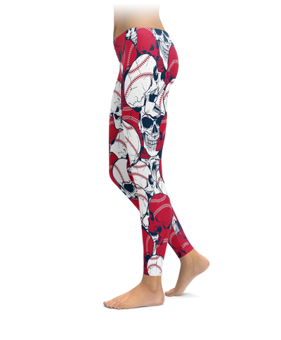 Boston Baseball Skull Leggings
