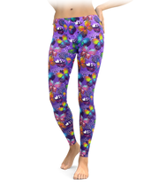 Purple Painted Butterflies Leggings