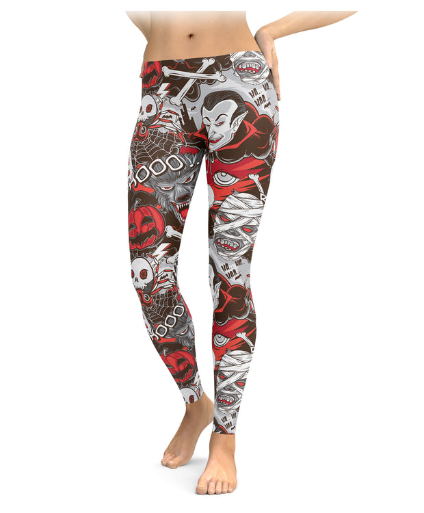 Halloween Monster Leggings