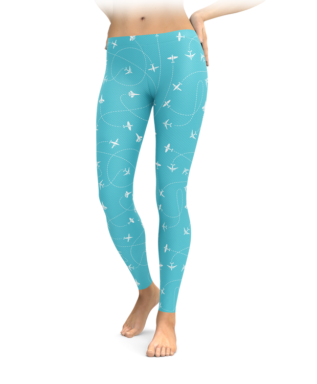 Turquoise Take Flight Leggings