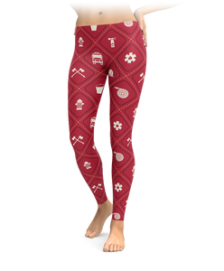 Firefighter Diamond Pattern Leggings