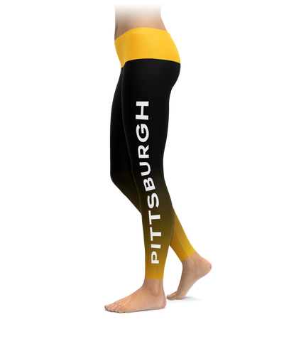 Pittsburgh Gradient City Football Leggings