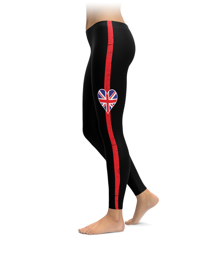 UK Heart Stripe Leggings