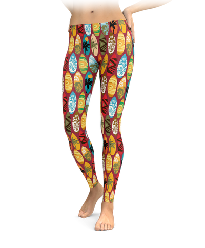 Tessellated Surf Board Leggings