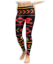 Kansas City Football Aztec Print Leggings