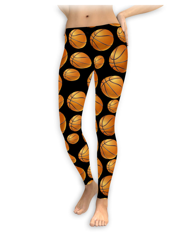 3D Basketballs Leggings