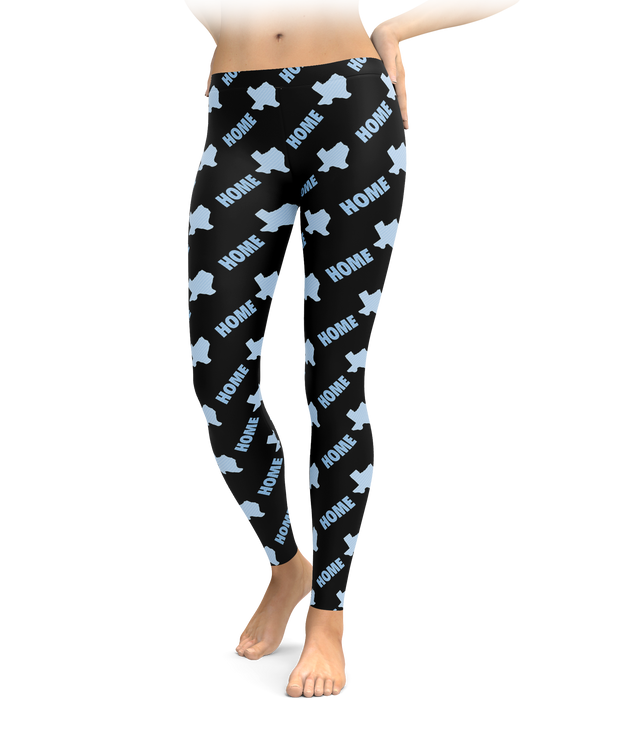 Home Pride - Black & Blues Texas Leggings