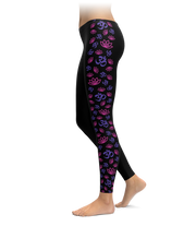Om & Lotus Side Stripe Leggings