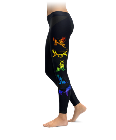 Rainbow German Shepherd Leggings