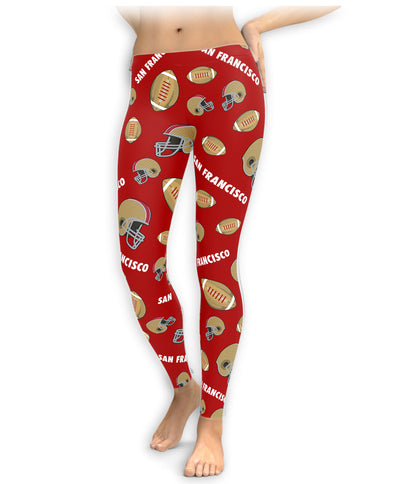 San Francisco Football Icons Leggings