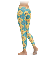 Checkered Bicycle Leggings