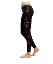 Medical Cross Heartbeat Leggings