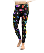 Colorful Alphabet Leggings