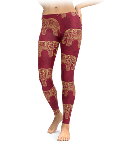 Intricate Elephant Leggings