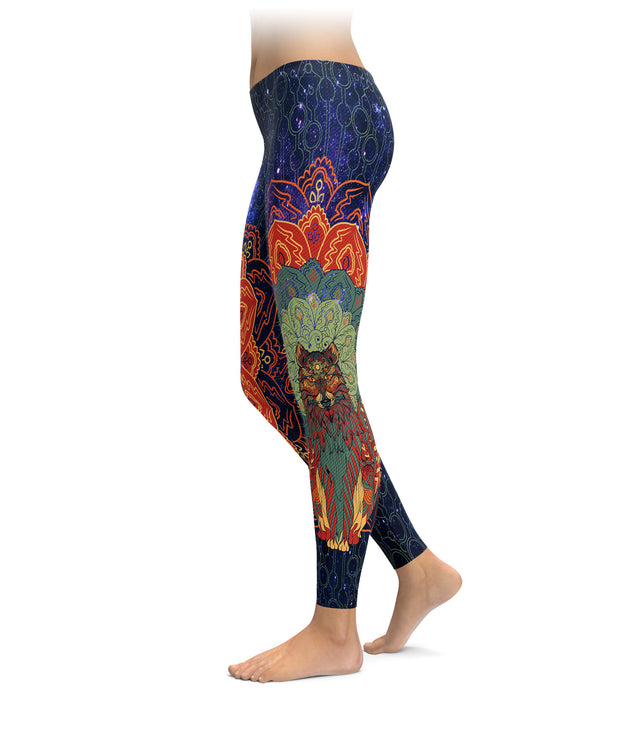 Mandala Wolf Leggings