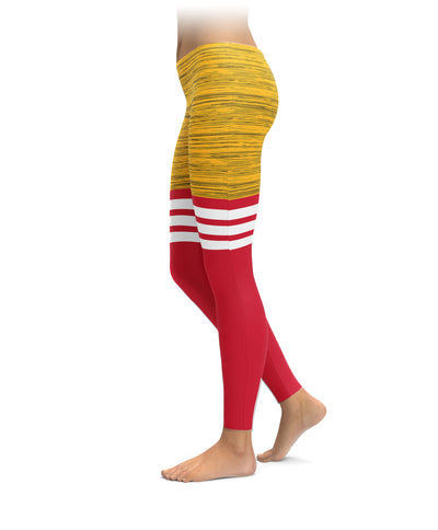 Kansas City Football Thigh High Leggings