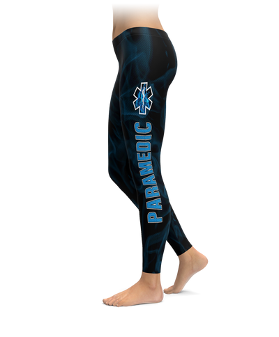 Paramedic Blue Fire Leggings