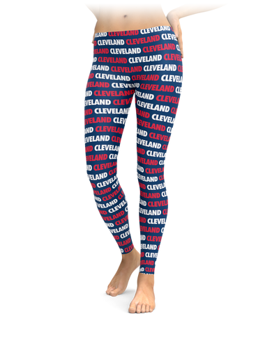 Cleveland Style - Red, White & Navy Leggings