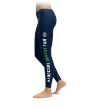 Hardcore Seattle Fan Football Leggings