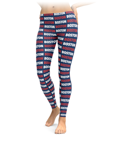 Boston Style - Red & Navy Leggings