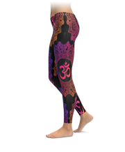 Om Mandala Colorful Leggings