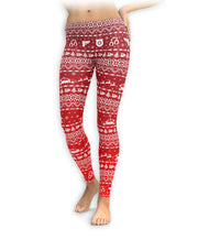 Red Nordic Police Officer Leggings