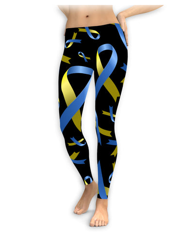 Large Down Syndrome Awareness Ribbon Leggings
