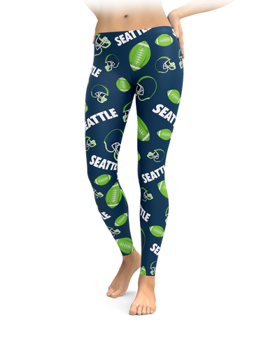 Seattle Football Icons Leggings