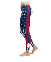 Atlanta Baseball Thin Line Leggings