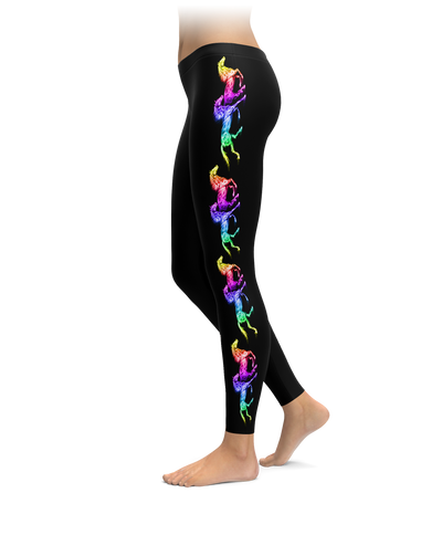 Rainbow Flame Horses Leggings