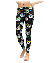 Hipster Corgi Leggings