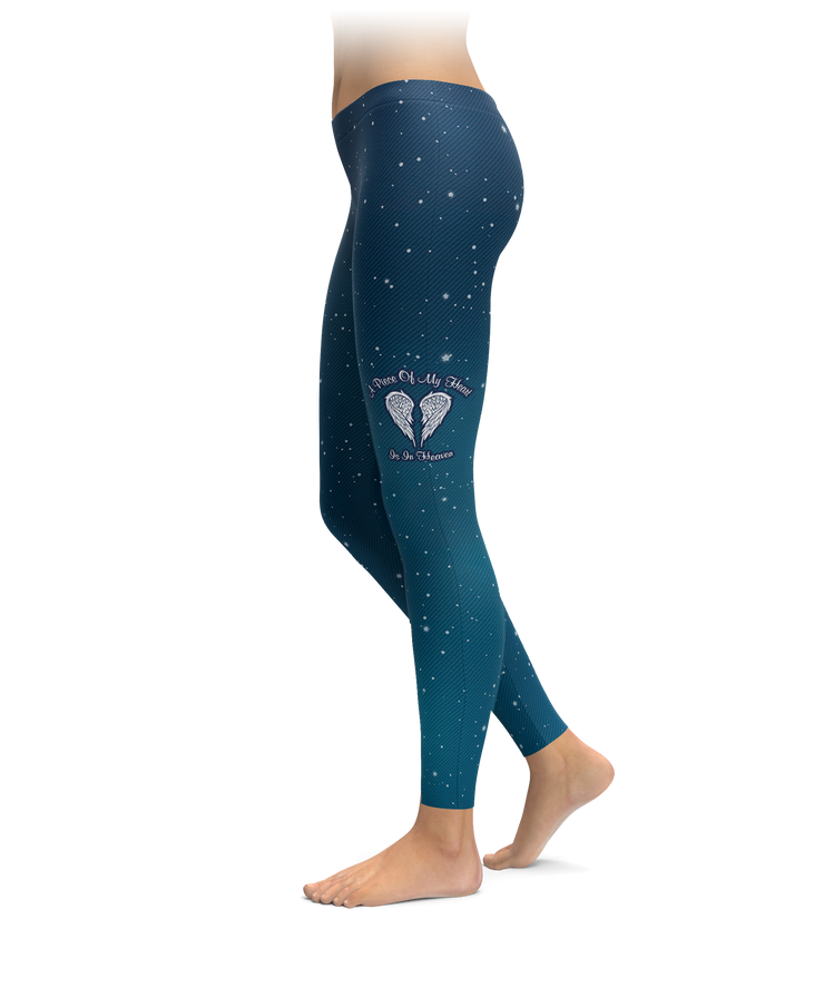 Starry Sky A Piece Of My Heart Is In Heaven Leggings