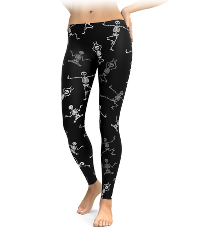 Skeleton Yoga Leggings