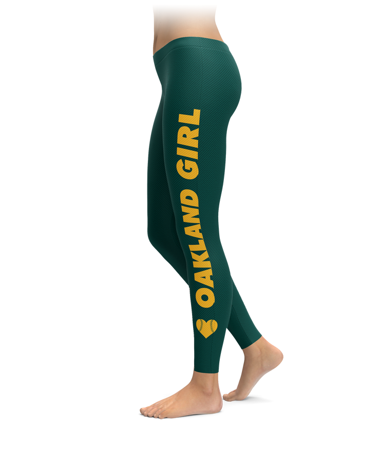Oakland Girl Baseball Leggings