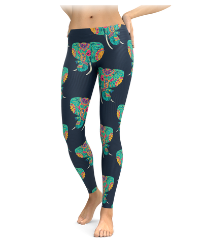 Painted Elephant Leggings