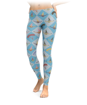 Checkered Diamond Skydiving Leggings