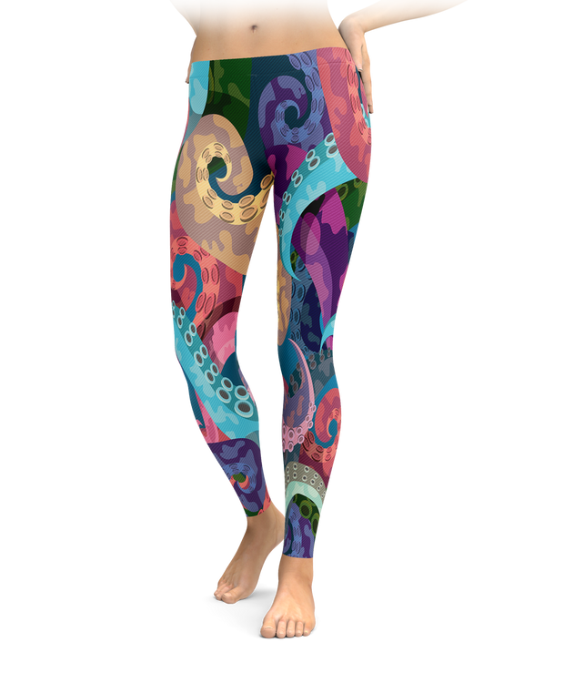 Colorful Tentacle Leggings