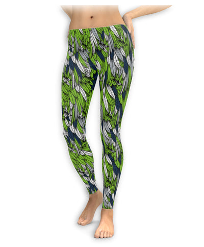Seattle Football Feather Leggings