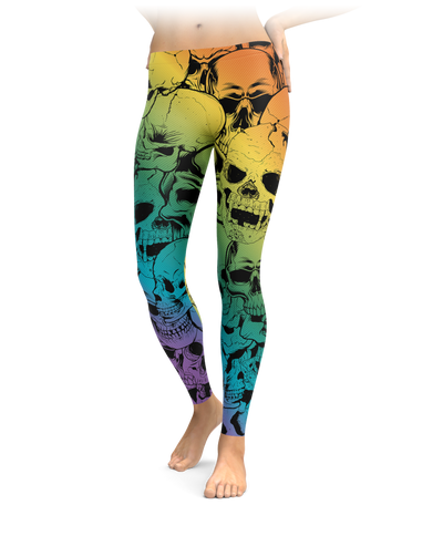 Rainbow Badass Skull Leggings