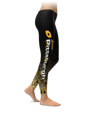 Love Pittsburgh Football Leggings