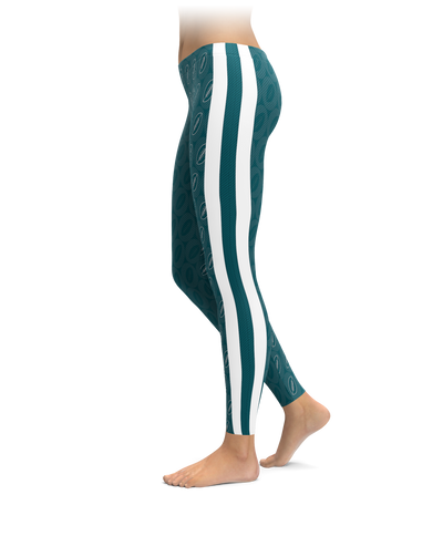 Philly Footballs & Stripes Leggings