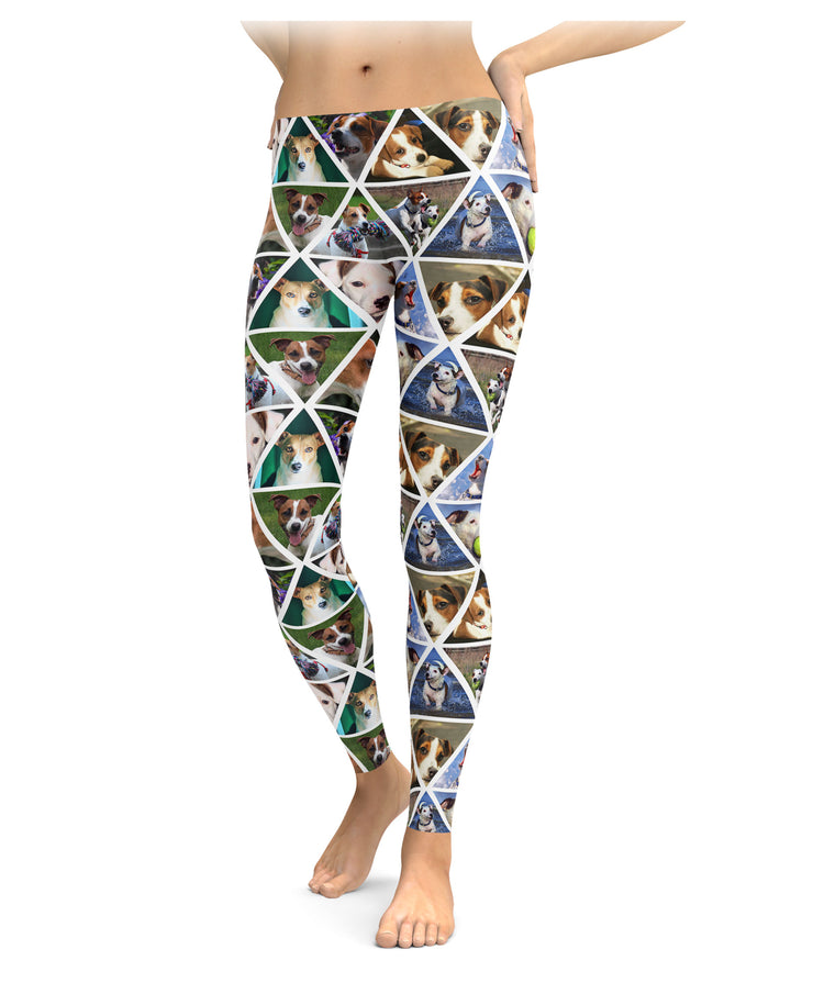 Jack Russell Terrier Triangle Print Leggings