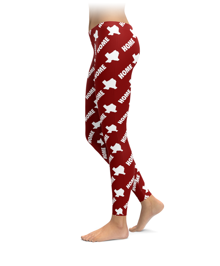 Home Pride - Red Texas Leggings